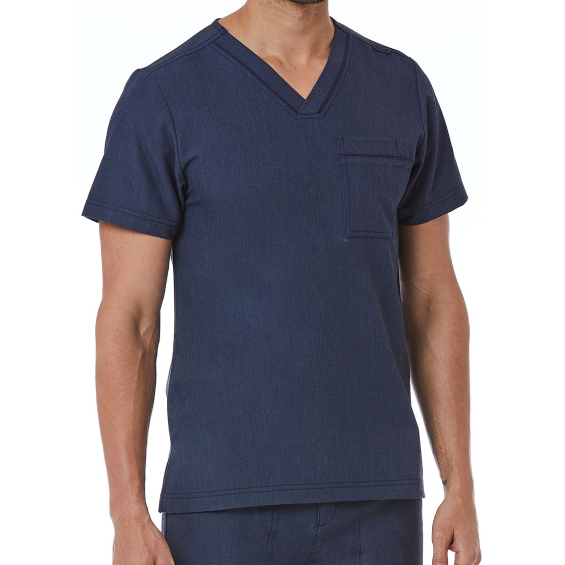 Men's Contrast Piping V-Neck Top 5901