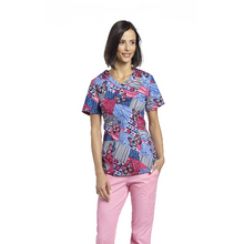 Load image into Gallery viewer, Printed V-Neck Top 745  *CLEARANCE SALE*