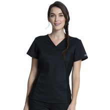 Load image into Gallery viewer, WW Revolution V-Neck Knit Panel Scrub Top WW2875