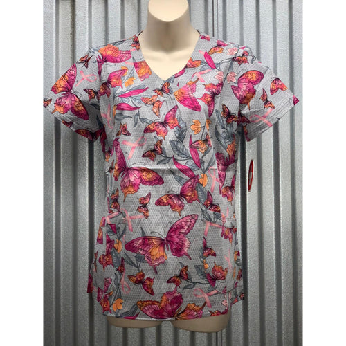 Printed V-Neck Top 718BAW *SALE* Silky Stretch Fabric! So Comfy!