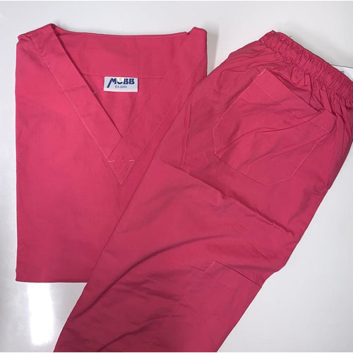 5 Pocket Scrub Top with  Drawstring/Elastic Scrub Pants Set *Clearance*