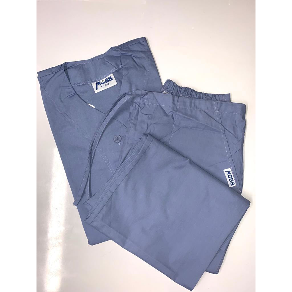 SET * Short Sleeve Button Top & MOBB Bell Bottom Scrub Pants 302 *CLEARANCE SALE*