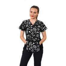 Load image into Gallery viewer, SET* MOBB Flexi Stretchy Sides V-Neck Scrub 324T & 306P Unisex Drawstring Scrub Pant  (CLEARANCE SALE)