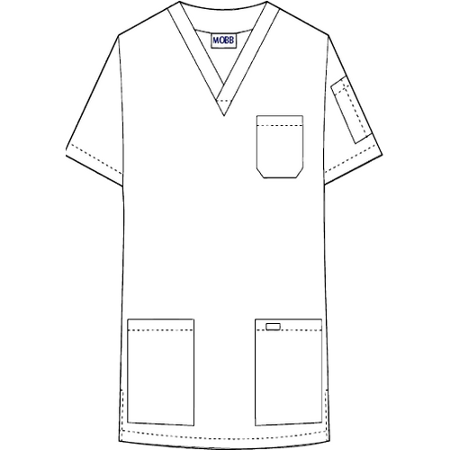 MOBB Unisex V-Neck Scrub Top (CLEARANCE)
