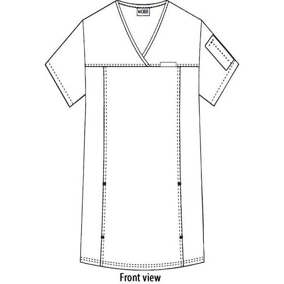 Flexi Stretchy Sides V-Neck Scrub Top Women MOBB (324T)