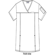 Load image into Gallery viewer, Flexi Stretchy Sides V-Neck Scrub Top Women MOBB (324T)