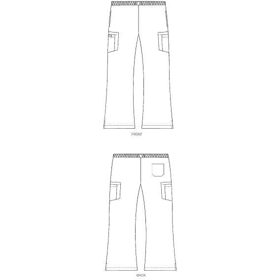 MOBB Boot Cut Flip Flap Scrub Pants (312P)