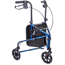 Load image into Gallery viewer, 3 Wheel Aluminum Rollator Blue:  MH3RLBE: Blue