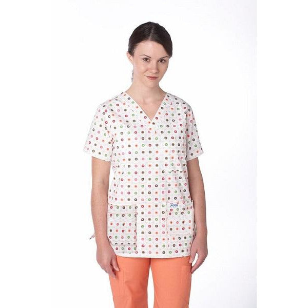 MOBB V-Neck Print Scrub Top with 5 pockets (CLEARANCE)