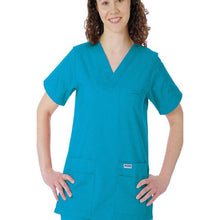 Load image into Gallery viewer, MOBB V-Neck Print Scrub Top with 5 pockets (CLEARANCE)