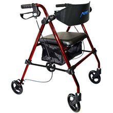 "Load image into Gallery viewer, Aluminum Folding Rollator 8"" Wheels RED: MHRL8ARE"