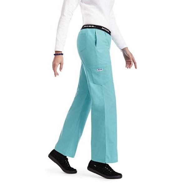 SET* TOP + PANT Four way stretch for extra comfort *SALE*  500A71333NV + MOBB Flip Flap Scrub Pant