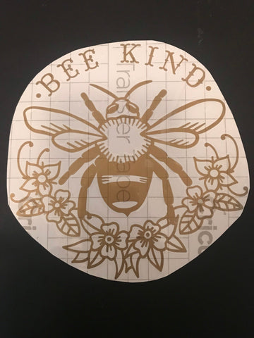 Bee Kind Decal, Bees, car decal, Bee Kind