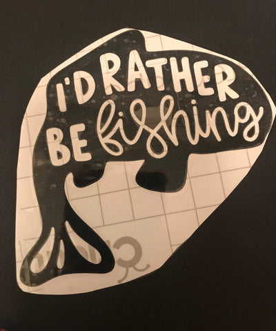 I'd rather be fishing decal, fishing, decals, outdoors fishing, fish, car decal