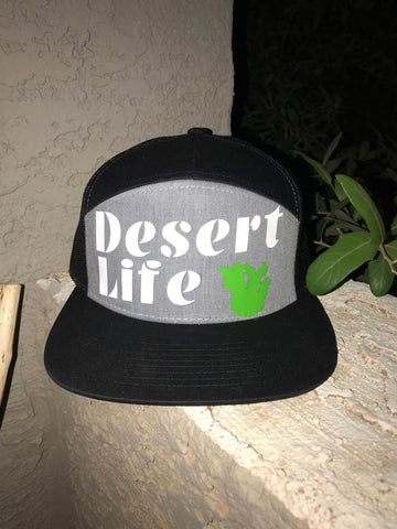 Desert Life Hat, desert, flat bill hat, custom hat, truckers hat, breathable hat