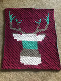 Crochet deer blanket