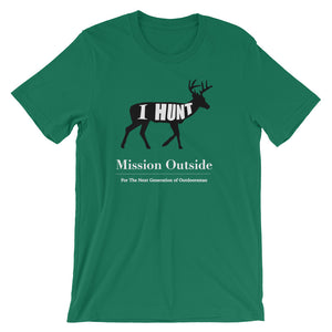 I Hunt (Whitetail) Unisex short sleeve t-shirt