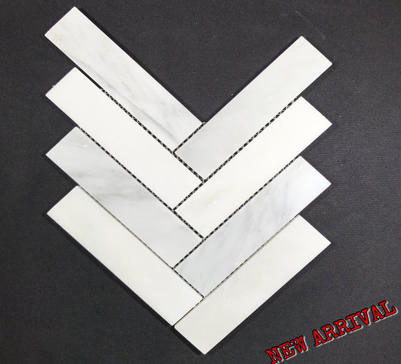 Herringbone Oriental White 2 x 8 - Backsplash