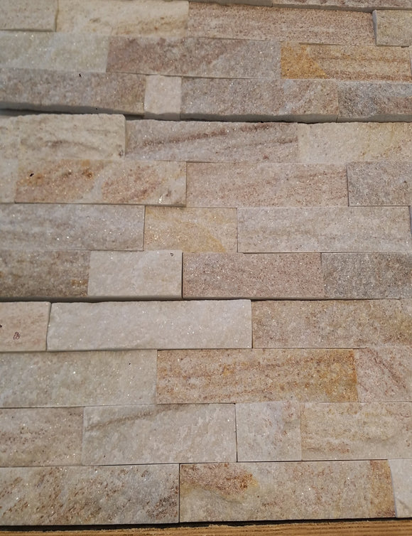 Golden Wood Veins Ledge Stone - 6