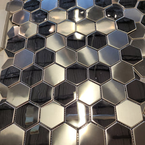 Hexagon metal mosaic 2.99 per sf