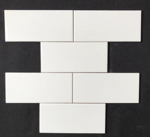 "3"" x 6"" Soho White Glossy Ceramic Wall Tile $1.99/sf 10.66 sf/box"