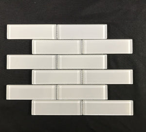Element Cloud Glass 2 x 6 Brick - Backsplash