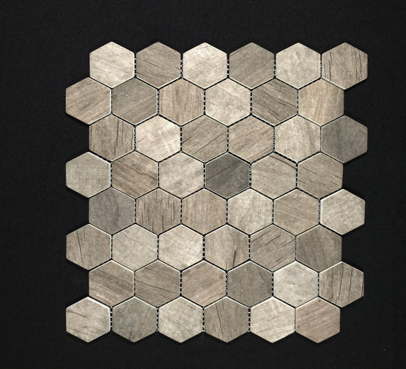 Driftwood Hexagon 6mm - Backsplash