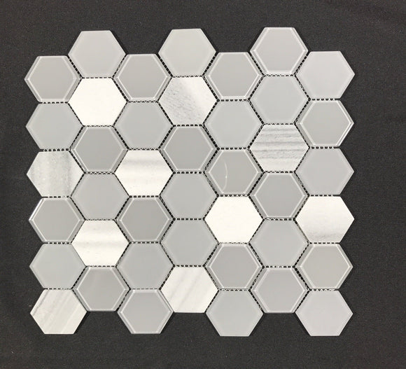 Exagon Grey Mosaic - Backsplash