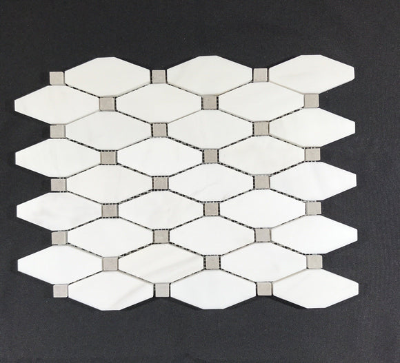 Long Octagon Dolomite with Grey Dot - Backsplash