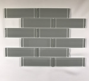 Element Shadow Glass 2 x 6 Brick - Backsplash