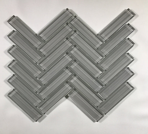 Cool Grey Herringbone 1 x 4 - Backsplash