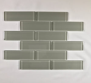 Element Smoke Glass Brick 2 x 6 - Backsplash
