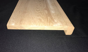 "48""Red Oak Right Return Stair Treads"