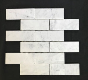 "Carrara 2"" x 6"" Marble - Backsplash"
