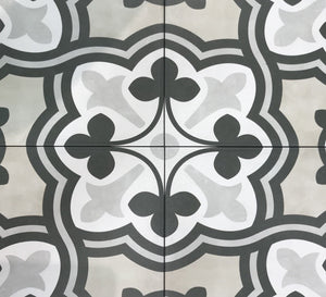 Form Sand Baroque Deco Porcelain 8 x 8 Tile