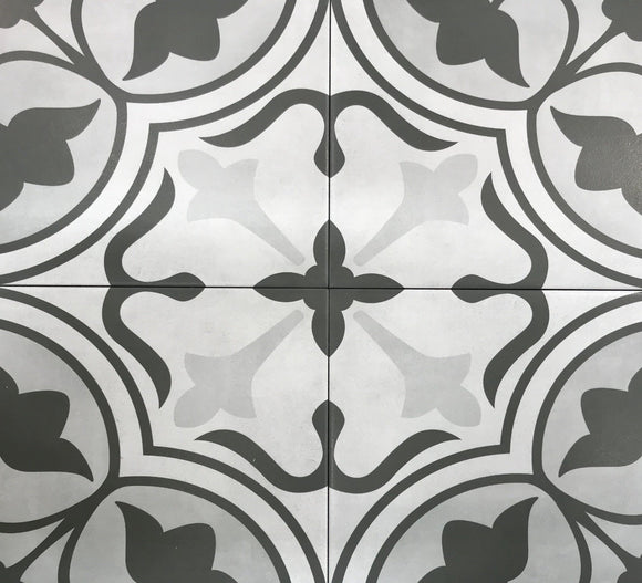 Form Ice Clover Deco Porcelain 8 x 8 Tile