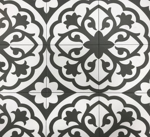 Form Monochrome Lotus Deco Porcelain 8 x 8 Tile