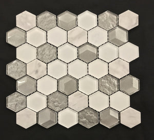 "London Fog 2"" Hexagon - Backsplash"