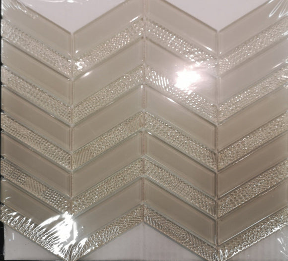 Axiom Mist Chevron Glass - Backsplash