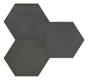 Form Graphite Hexagon Porcelain 7 x 8 Tile