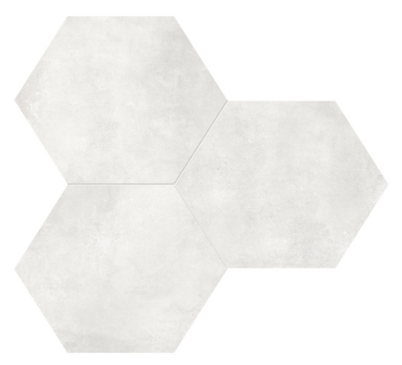 Form Ivory Hexagon Porcelain 7 x 8 Tile