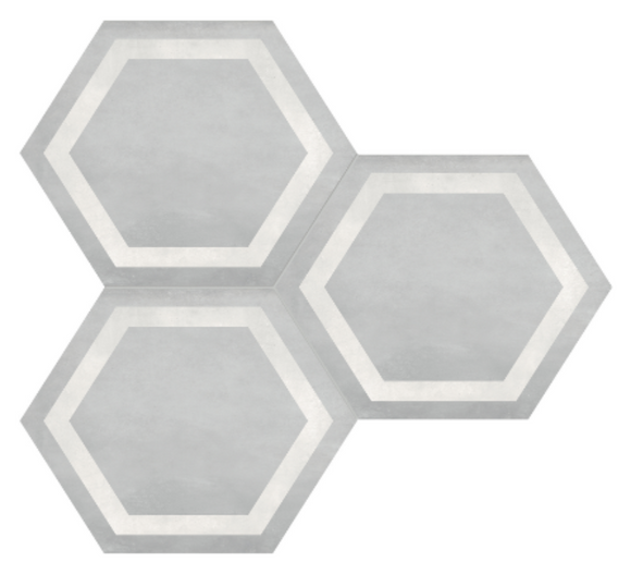 Form Ice Hexagon Frame Porcelain 7 x 8 Tile
