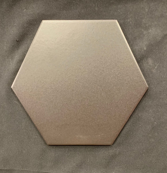 "Basic Black Hexagon 10"" Porcelain Tile"