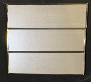 "Champagne Bevel 4"" x 12"" Glass Tile"