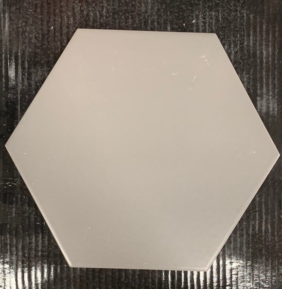 Basic Grey 10' Hexagon Porcelain Tile