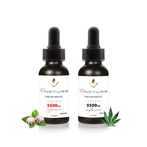 2500mg cbd oil tincture peppermint and unflavored vesl