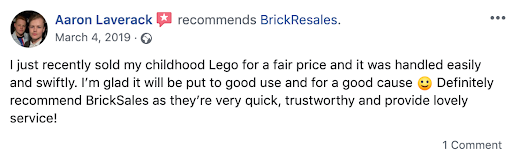 facebook good review brickresales