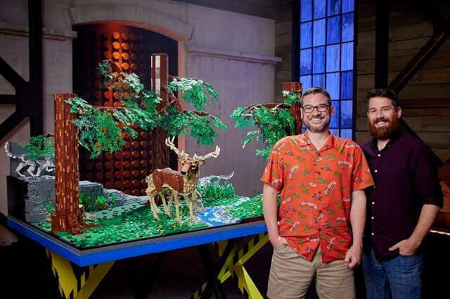 LEGO Masters series 3 winners David and Gus with their incredible build.