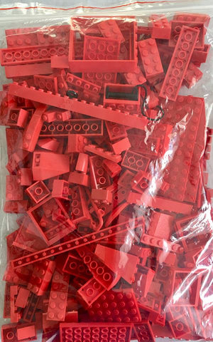 LEGO 500g mixed bag of RED parts, bricks and more!