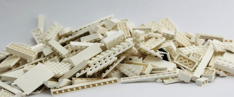 LEGO 500g mixed bag of WHITE bricks, plates and more!